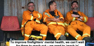 to improve firefighters' mental health, we can't wait for them to reach out – we need to 'reach in'