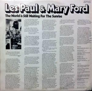 cream of the crate: album review #102 – les paul & mary ford: the world is still waiting for the sunrise