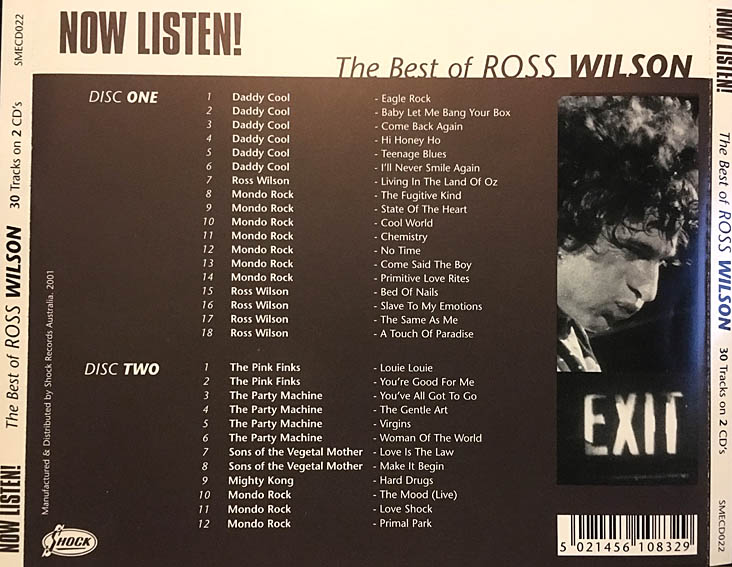 cream of the crate: cd review #40- ross wilson: now listen (the best of)