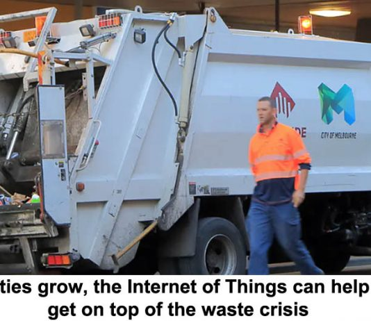 as cities grow, the internet of things can help us get on top of the waste crisis