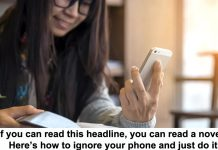 if you can read this headline, you can read a novel. here's how to ignore your phone and just do it