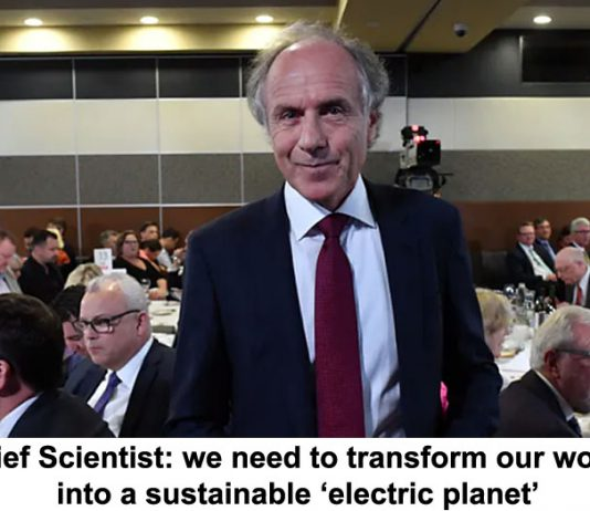 chief scientist: we need to transform our world into a sustainable 'electric planet'