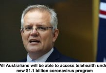 all australians will be able to access telehealth under new $1.1 billion coronavirus program