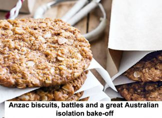 anzac biscuits, battles and a great australian isolation bake-off