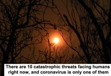 there are 10 catastrophic threats facing humans right now, and coronavirus is only one of them