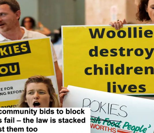 most community bids to block pokies fail – the law is stacked against them too