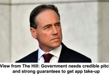view from the hill: government needs credible pitch and strong guarantees to get app take-up