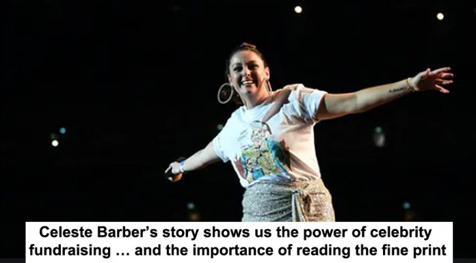 celeste barber's story shows us the power of celebrity fundraising … and the importance of reading the fine print