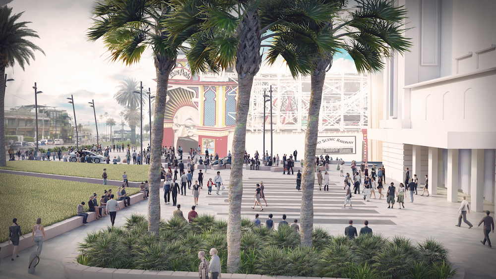 palais forecourt works boosted by victorian government grant