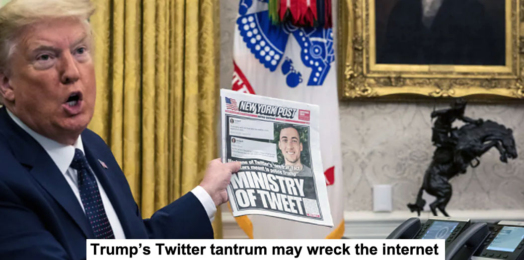 trump's twitter tantrum may wreck the internet