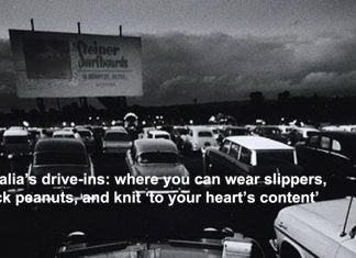 australia's drive-ins: where you can wear slippers, crack peanuts, and knit 'to your heart's content'