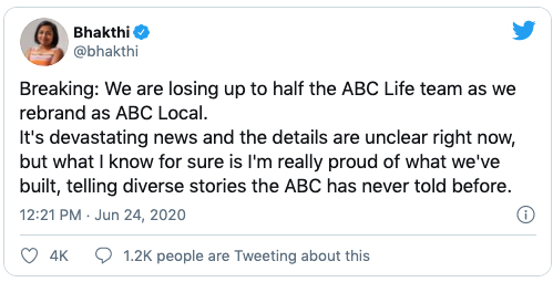 latest $84 million cuts rip the heart out of the abc, and our democracy