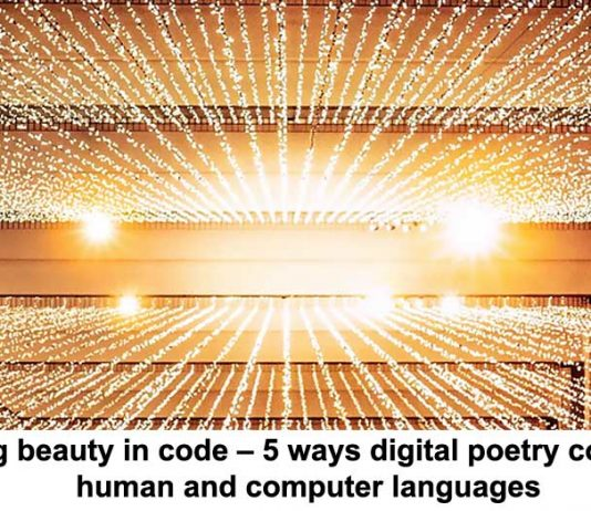 finding beauty in code – 5 ways digital poetry combines human and computer languages