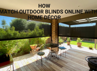 how to match outdoor blinds online with home décor