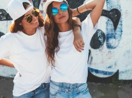 dress-up like a pro by pairing t-shirts for women with other dressing elements