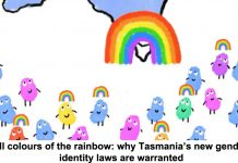 jon kudelka/supplied all colours of the rainbow: why tasmania's new gender identity laws are warranted
