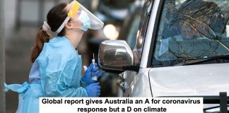 global report gives australia an a for coronavirus response but a d on climate