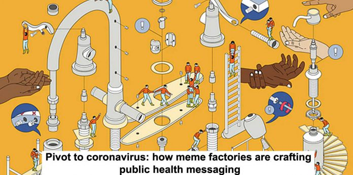 pivot to coronavirus: how meme factories are crafting public health messaging