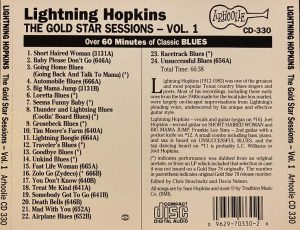 cream of the crate: album review # 199 – lightnin' hopkins: the gold star series vol 1