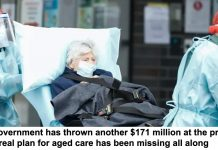 the government has thrown another $171 million at the problem. but a real plan for aged care has been missing all along