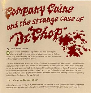 cream of the crate album review #204: company caine – doctor chop