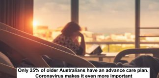 only 25% of older australians have an advance care plan. coronavirus makes it even more important