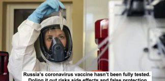 russia's coronavirus vaccine hasn't been fully tested. doling it out risks side effects and false protection