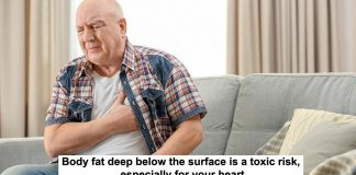 body fat deep below the surface is a toxic risk, especially for your heart