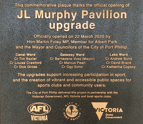 j l murphy reserve upgrades ready and waiting for first bounce