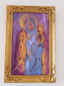 """""""blessed"""" iconic art by maria smirlis"""