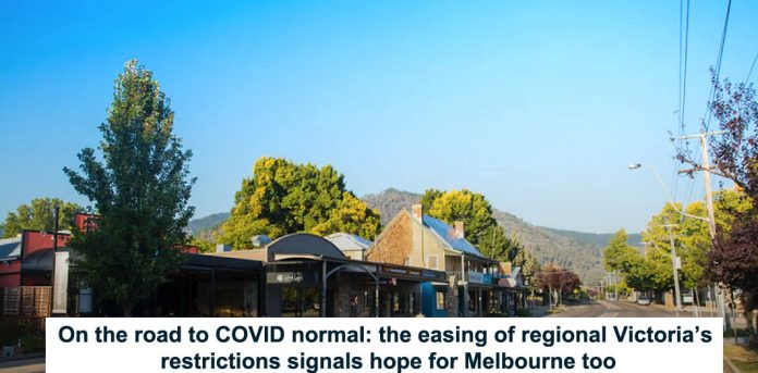 on the road to covid normal: the easing of regional victoria's restrictions signals hope for melbourne too