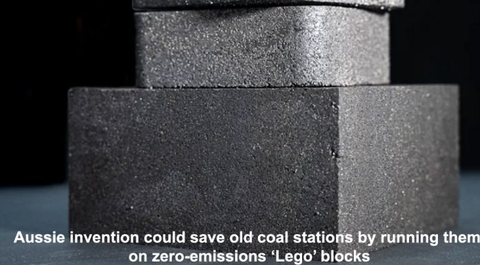 aussie invention could save old coal stations by running them on zero-emissions 'lego' blocks