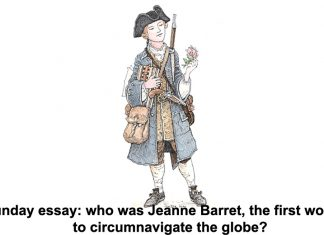 sunday essay: who was jeanne barret, the first woman to circumnavigate the globe?