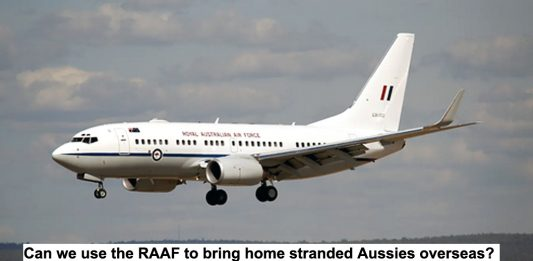 can we use the raaf to bring home stranded aussies overseas?