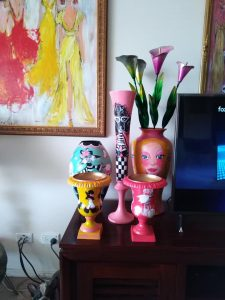 maria smirlis /artist the new canvas hand painted vintage vases