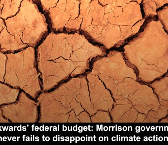 'backwards' federal budget: morrison government never fails to disappoint on climate action