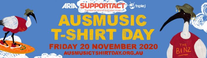 support act announces details of ausmusic t-shirt day 2020!