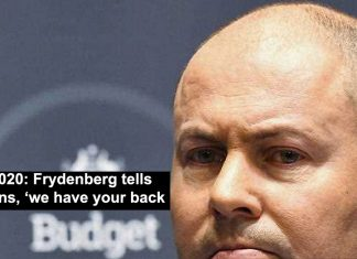 budget 2020: frydenberg tells australians, 'we have your back