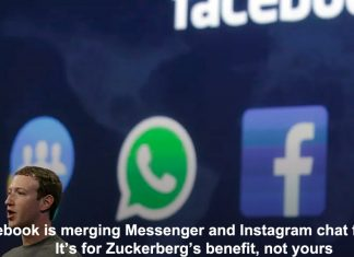 facebook is merging messenger and instagram chat features. it's for zuckerberg's benefit, not yours