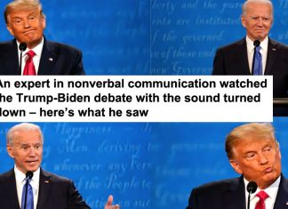 an expert in nonverbal communication watched the trump-biden debate with the sound turned down – here's what he saw