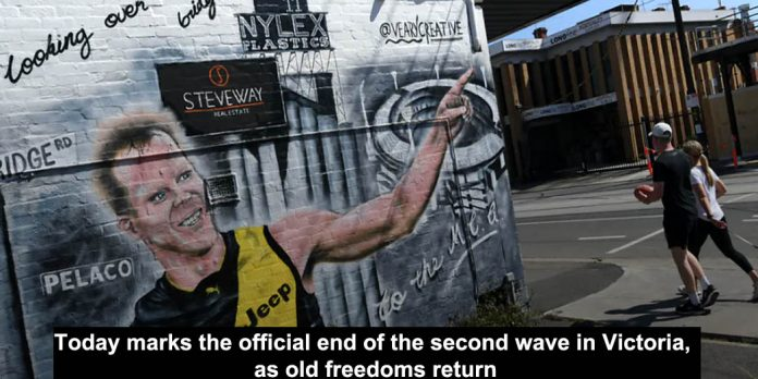 today marks the official end of the second wave in victoria, as old freedoms return