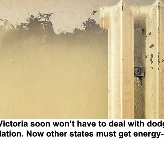 renters in victoria soon won't have to deal with dodgy heaters and insulation. now other states must get energy-efficient