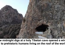how midnight digs at a holy tibetan cave opened a window to prehistoric humans living on the roof of the world