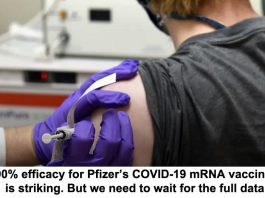 90% efficacy for pfizer's covid-19 mrna vaccine is striking. but we need to wait for the full data