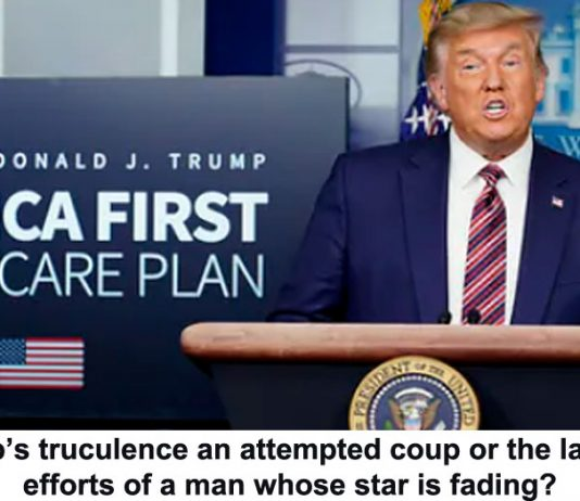 is trump's truculence an attempted coup or the last-ditch efforts of a man whose star is fading?