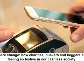 no spare change: how charities, buskers and beggars aren't feeling so festive in our cashless society