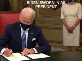 joseph robinette biden jr. sworn in as the 46th president of the usa