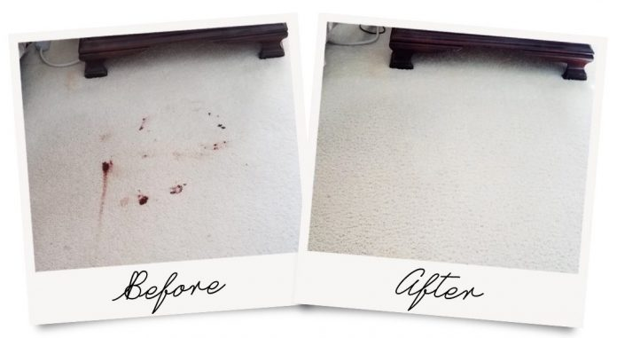 how to remove dry blood stains in carpet
