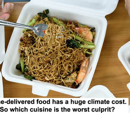 home-delivered food has a huge climate cost. so which cuisine is the worst culprit?