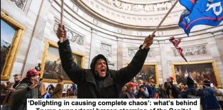 'delighting in causing complete chaos': what's behind trump supporters' brazen storming of the capitol